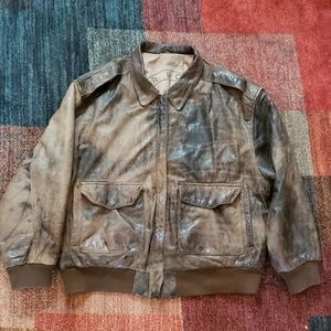 Midway Airborne Paris Sport Club Leather Jacket XL